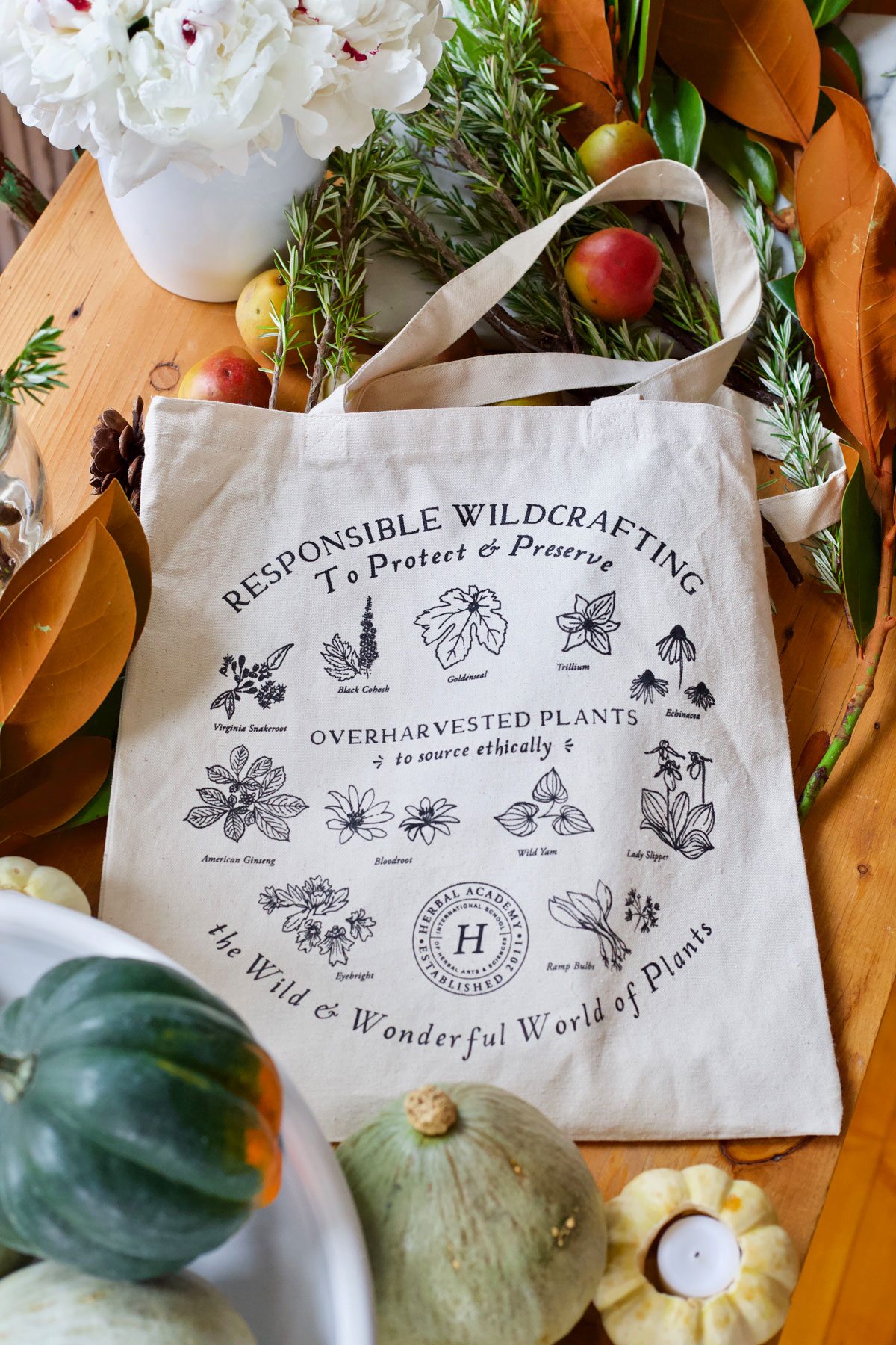 Herbal Academy Foraging tote
