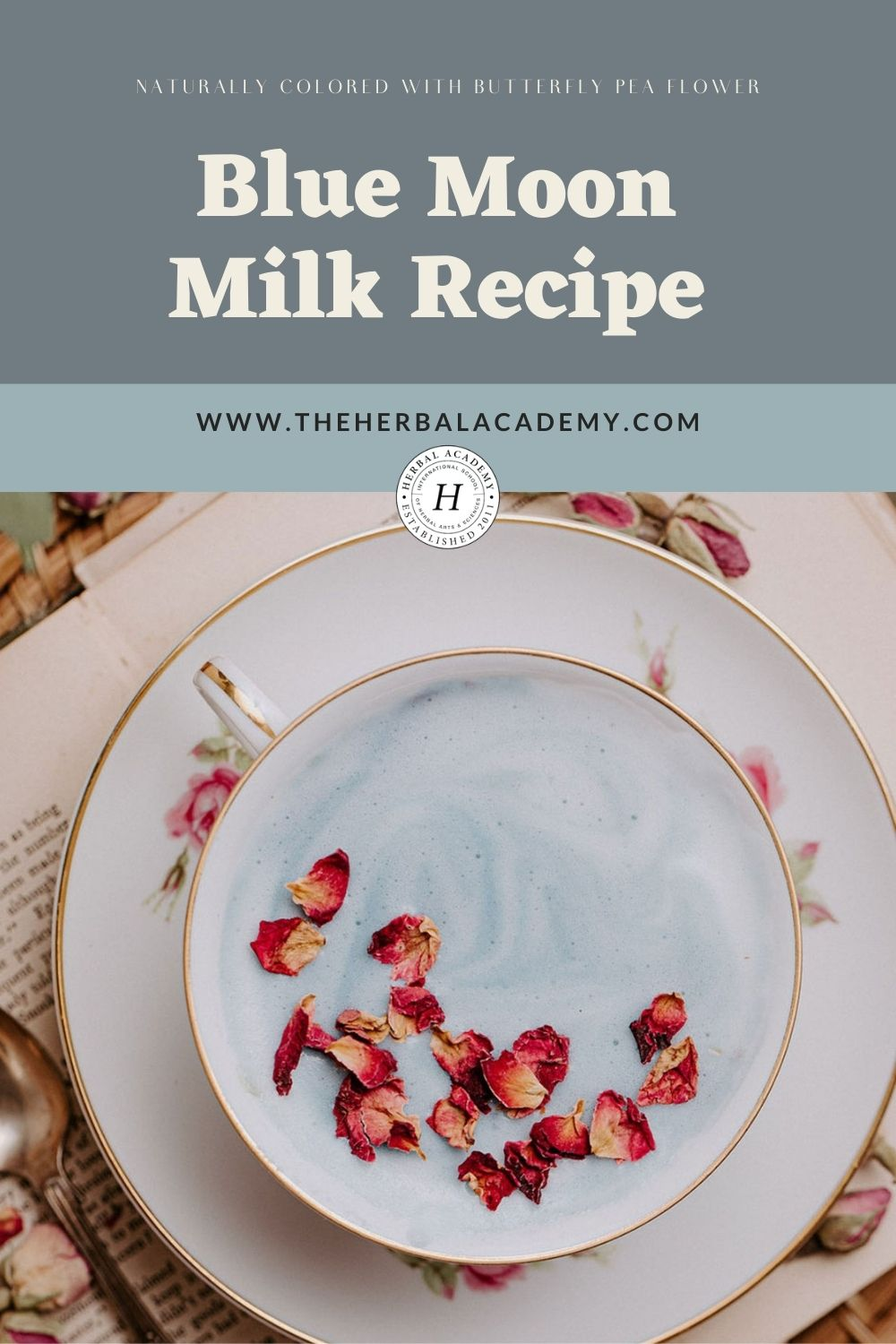 Pinterest graphic for blue moon milk recipe