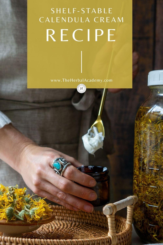 Calendula Cream Recipe Pinterest Graphic