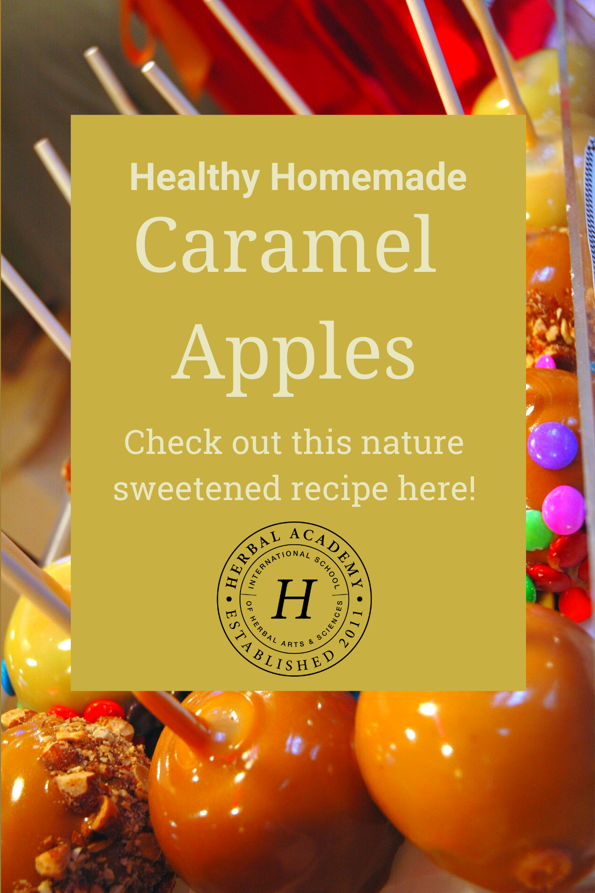 Healthy caramel apples Pintrest graphic