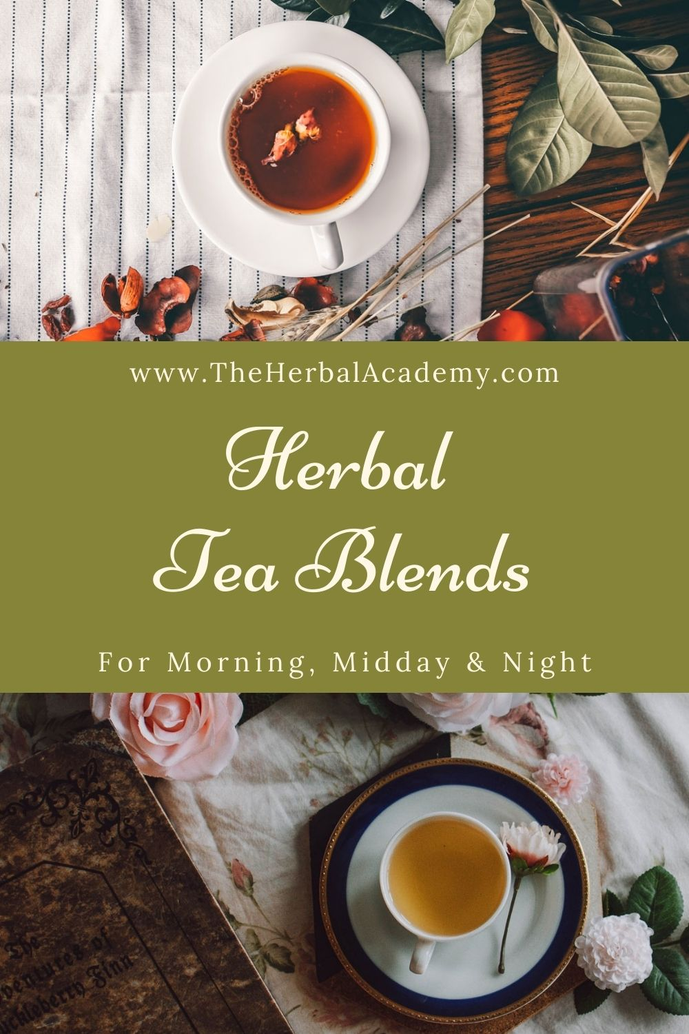 Herbal tea blends Pinterest graphic