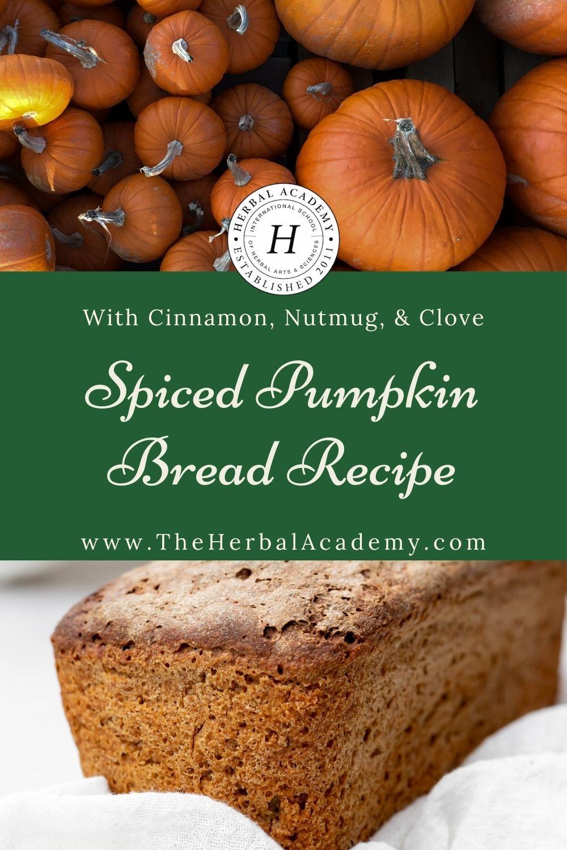 Spiced pumpkin bread is a delicious fall treat