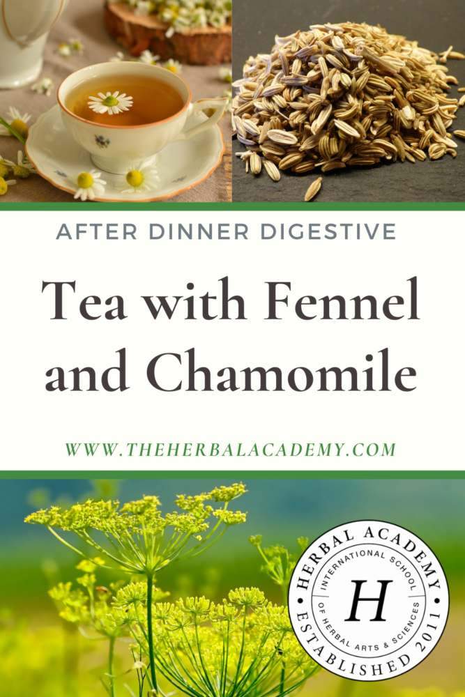 After dinner tea recipe Pinterest graphic