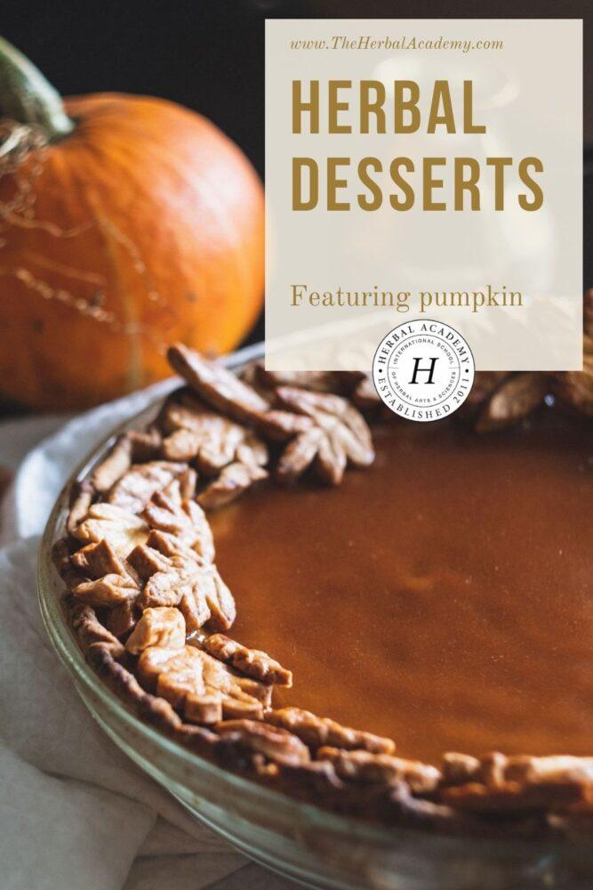 Herbal Desserts Pinterest graphic