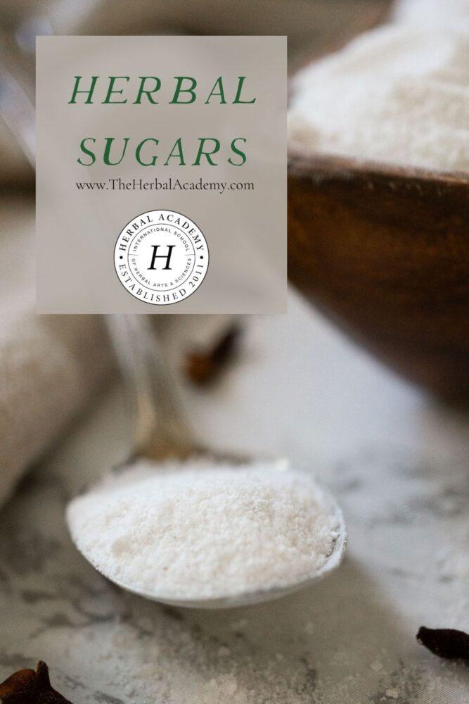 Herbal sugars pinterest graphic