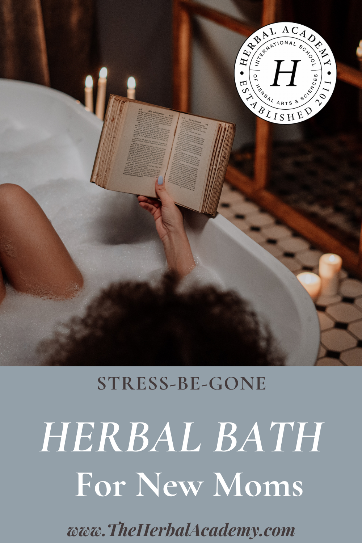 Herbal Bath Recipe Pinterest graphic