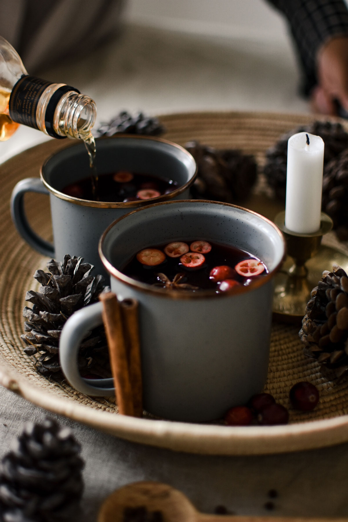 cranberry hot toddy with bourbon