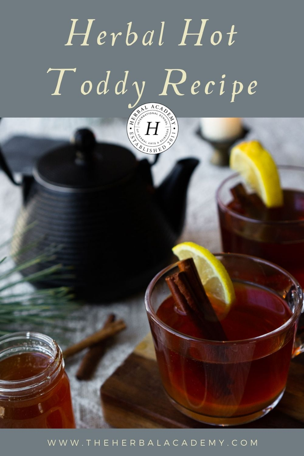 Herbal Hot Toddy Mocktail Recipe Pinterest Graphic