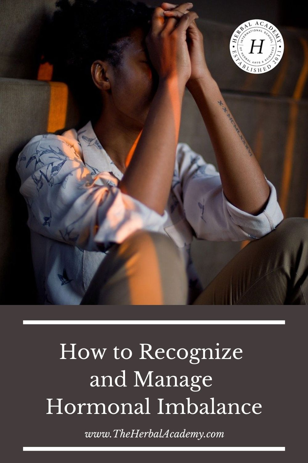 How to recognize Hormonal Imbalance Pinterest graphic