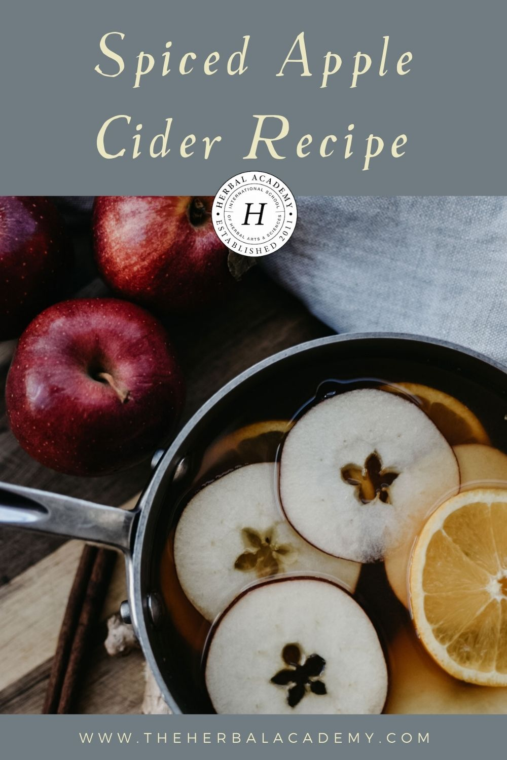 Spiced Apple Cider Recipe Pinterest Graphic