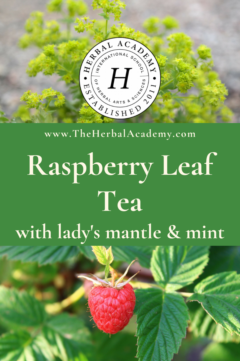 Raspberry Leaf Tea Pinterest Graphic