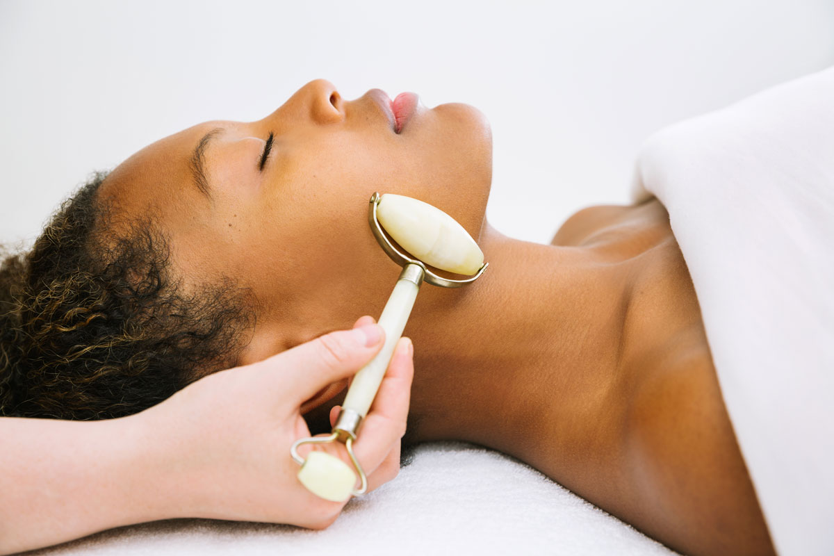 A woman getting a skincare treatment at Ritual Skincare by Katie Woods