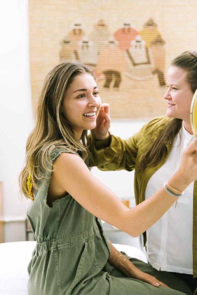 Katie Woods working at Ritual Skincare