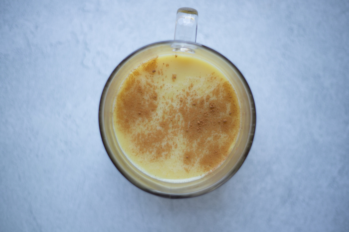 golden milk in a cup