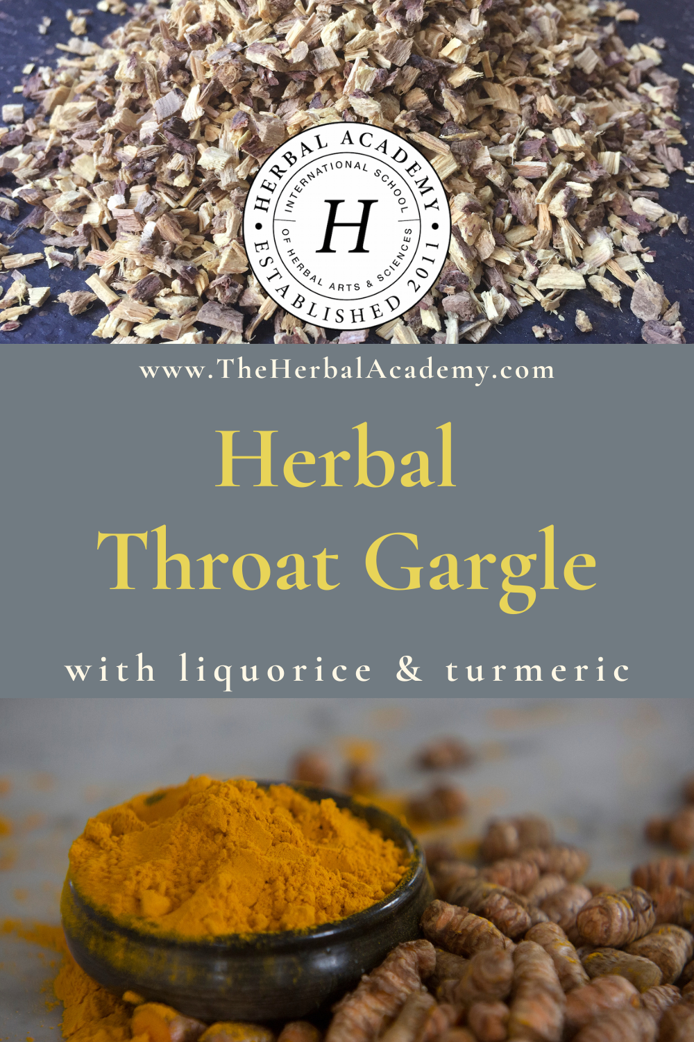 Herbal Throat Gargle | Herbal Academy | Pintrest graphic