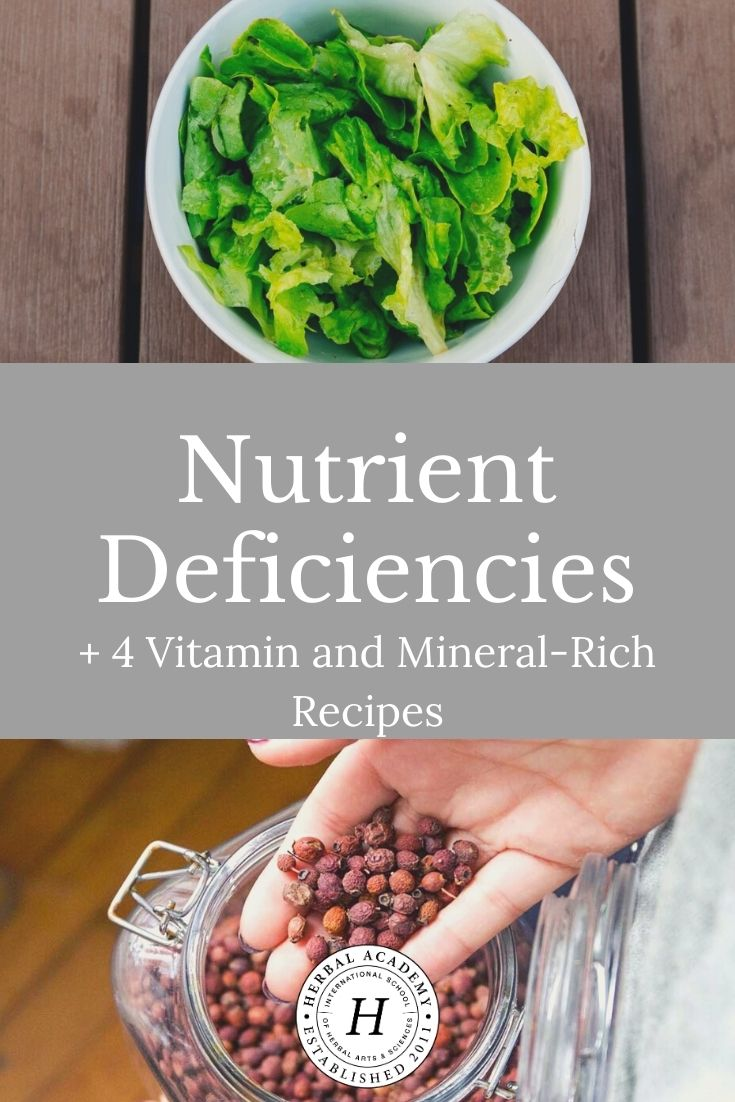 Nutrient Deficiencies + 4 Vitamin and Mineral-Rich Recipes | Herbal Academy | Many people are not meeting their daily nutrition needs and are at risk of nutrient deficiencies. Here are four mineral-rich recipes to help!