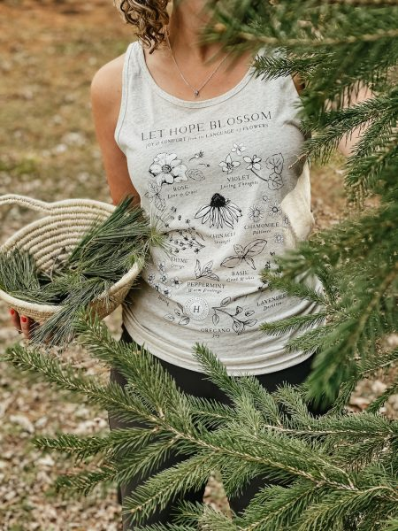 Let Hope Blossom Botanical Tank Top by Herbal Academy