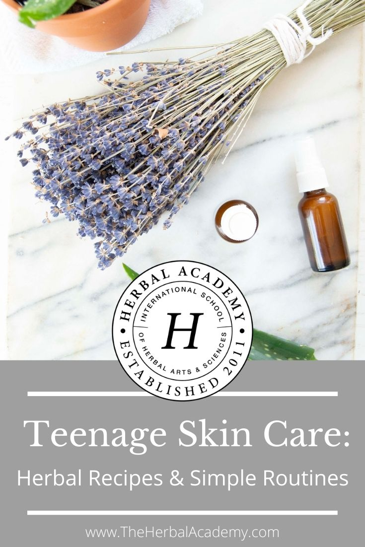 Teenage Skin Care: Herbal Recipes & Simple Routines | Herbal Academy | When it comes to teenage skin care, it's best to keep it simple. Check out these herbal recipes and simple routines for better skin!
