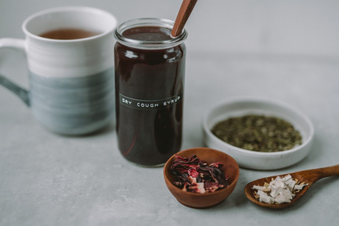 Herbal Cough Syrup Recipe for a Dry Cough | Herbal Academy | This herbal cough syrup recipe containing demulcent herbs is just wonderful for soothing throat tissues during a dry cough or sore throat.