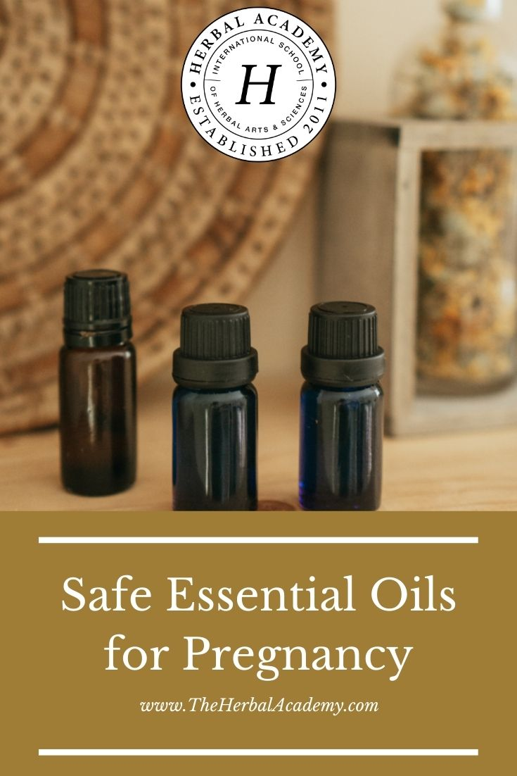 Safe Essential Oils For Pregnancy | Herbal Academy | What makes an essential oil safe during pregnancy? In this article we will explore important aspects of safe essential oils for pregnancy.