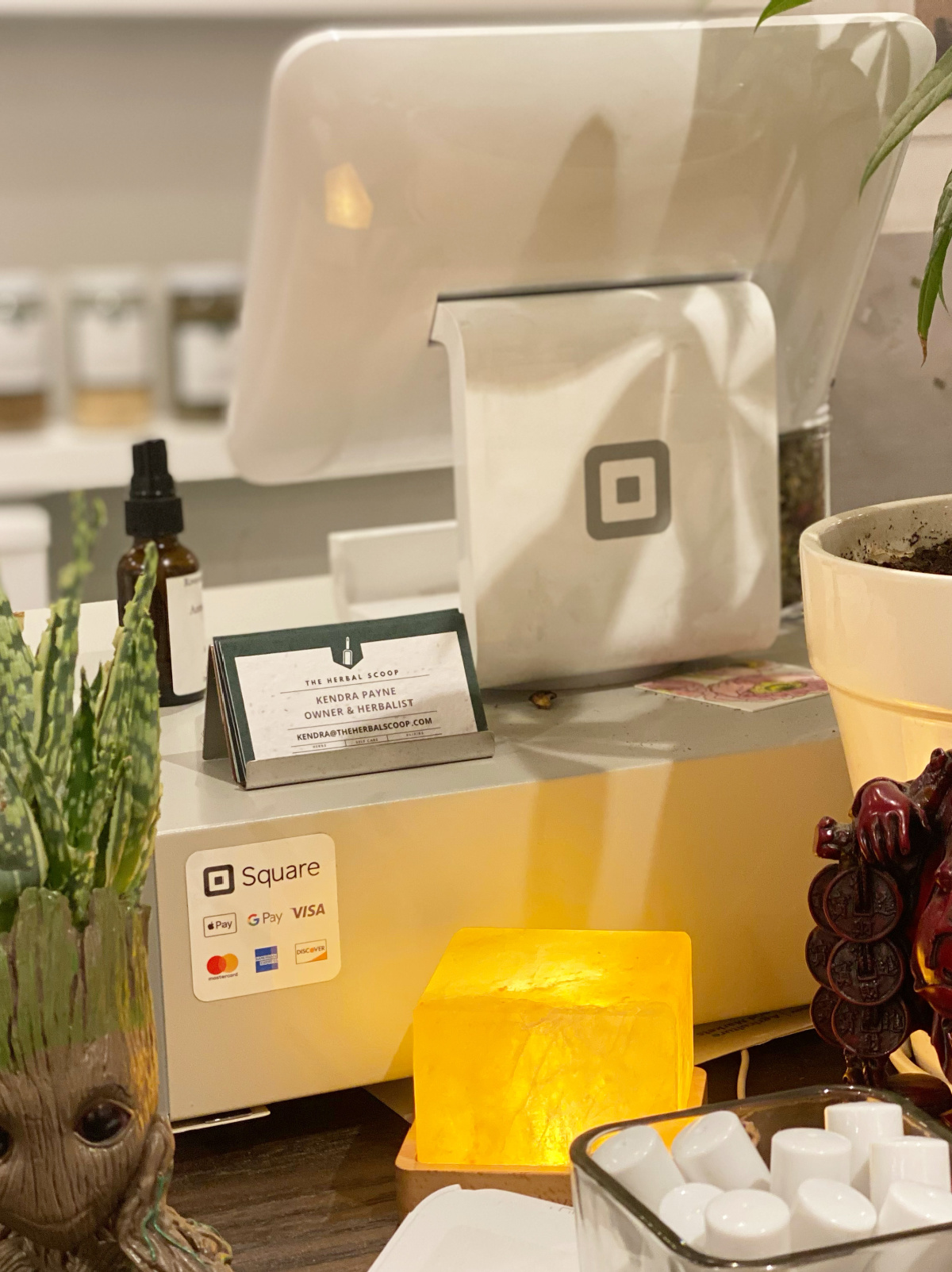 check out counter at The Herbal Scoop