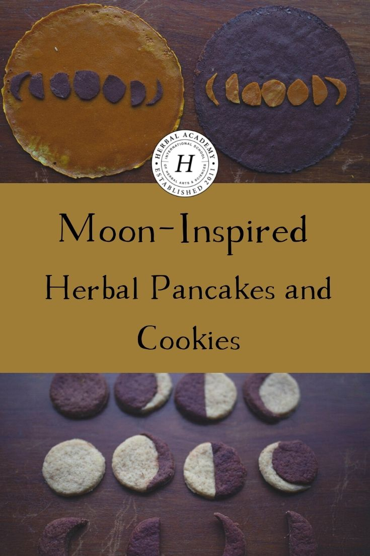Moon-Inspired Herbal Pancakes and Cookies | Herbal Academy | These moon-inspired herbal pancakes and cookies use pure ingredients and natural coloring. Check out these recipes by food artist, Lieke Romeijn.