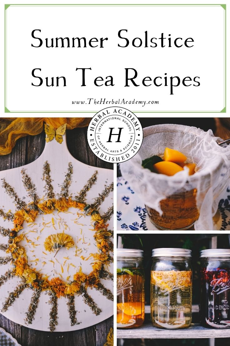 Summer Solstice Sun Tea Recipes | Herbal Academy | In celebration of the longest day of the year, the summer solstice, we have three delicious sun tea recipes for you to try!