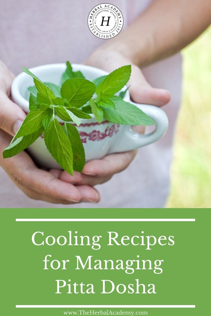 Cooling Recipes for Managing Pitta Dosha | Herbal Academy | If you are in search of cooling recipes and tips for managing pitta dosha, here are some delicious recipes to help you in the summer months.