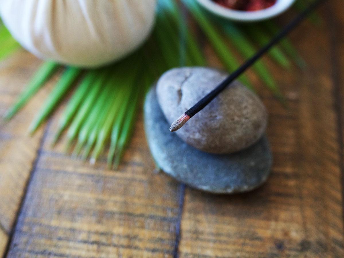 burning stick representing pitta dosha