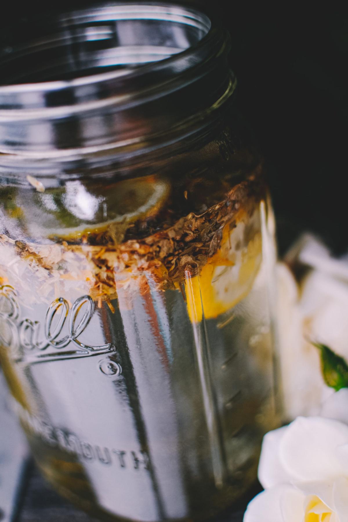 up close of sunshine tea recipe