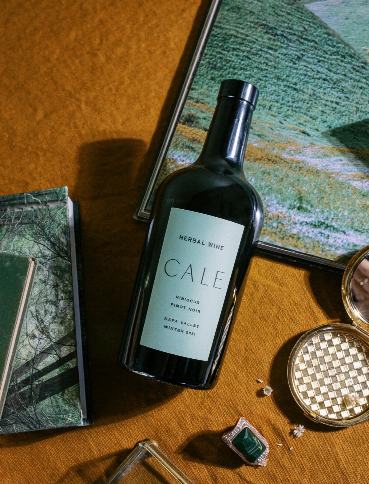 herbal wine in a bottle