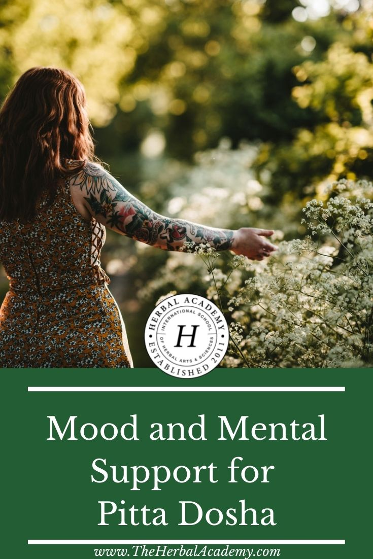 Mood and Mental Support for Pitta Dosha | Herbal Academy | Through diet, herbs, and lifestyle practices, there are many ways to balance pitta dosha during the summer. Here are a few helpful ideas.