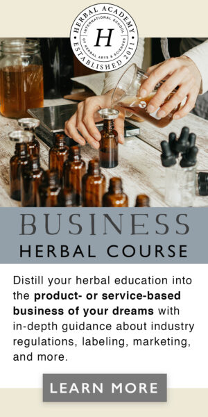 Enroll now in the NEW Business Herbal Course