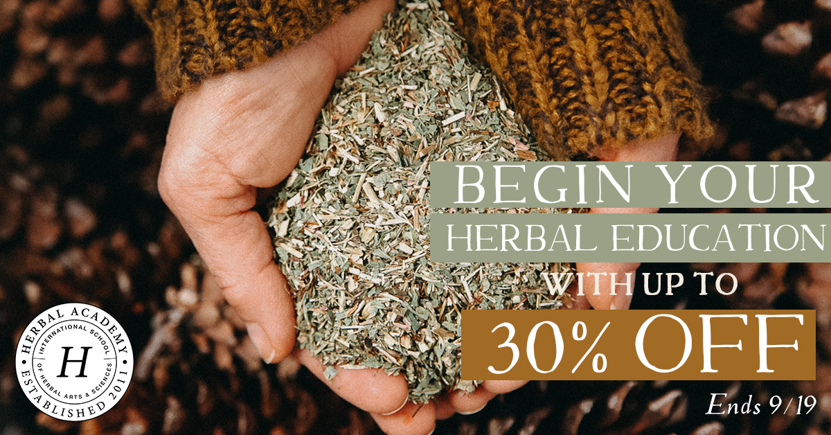 Shop Up to 30% off ALL HERBAL COURSES!