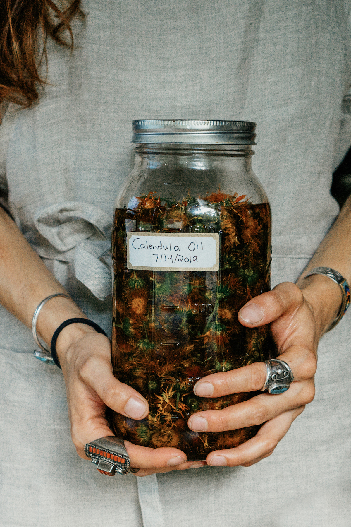 Entrepreneur Herbalist Path - learn how to making herbal infused oils in the Introductory Herbal Course