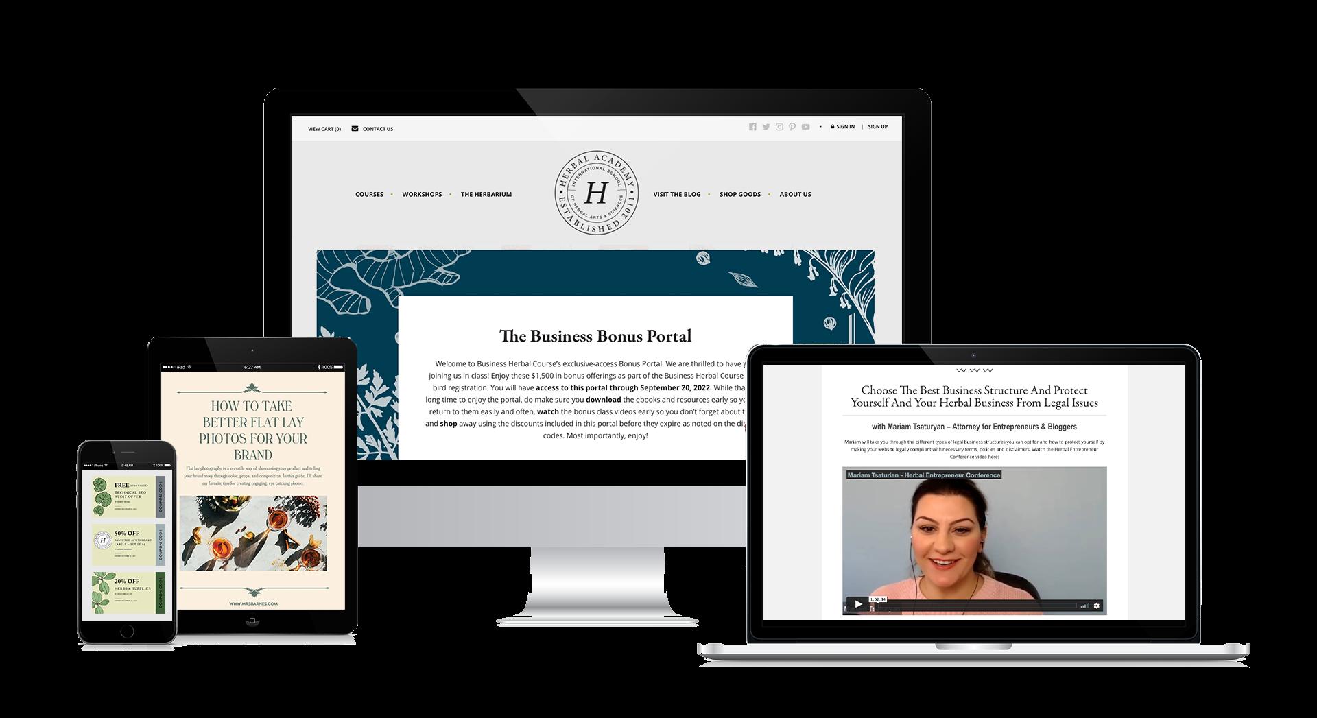 The Business Herbal Course Bonus Portal
