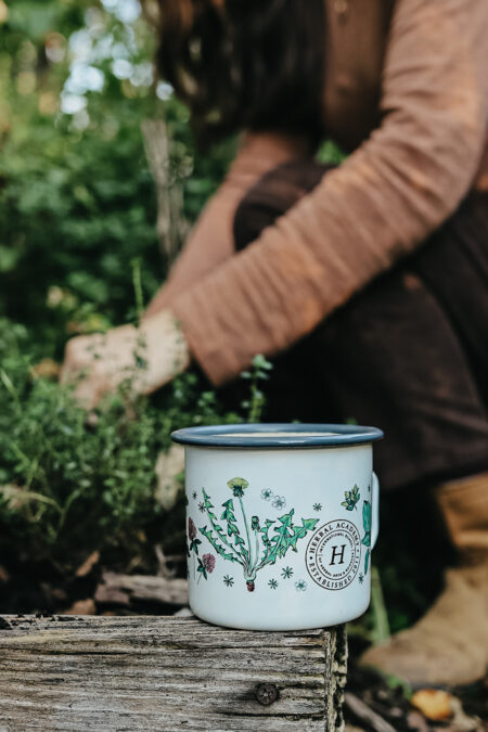 Great outdoor mug - the Floral Enamel Mug by Herbal Academy