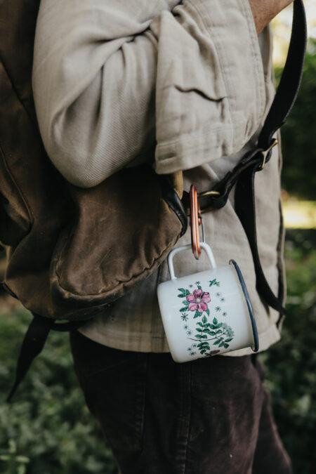 Limited Edition Floral Enamel Mug by Herbal Academy