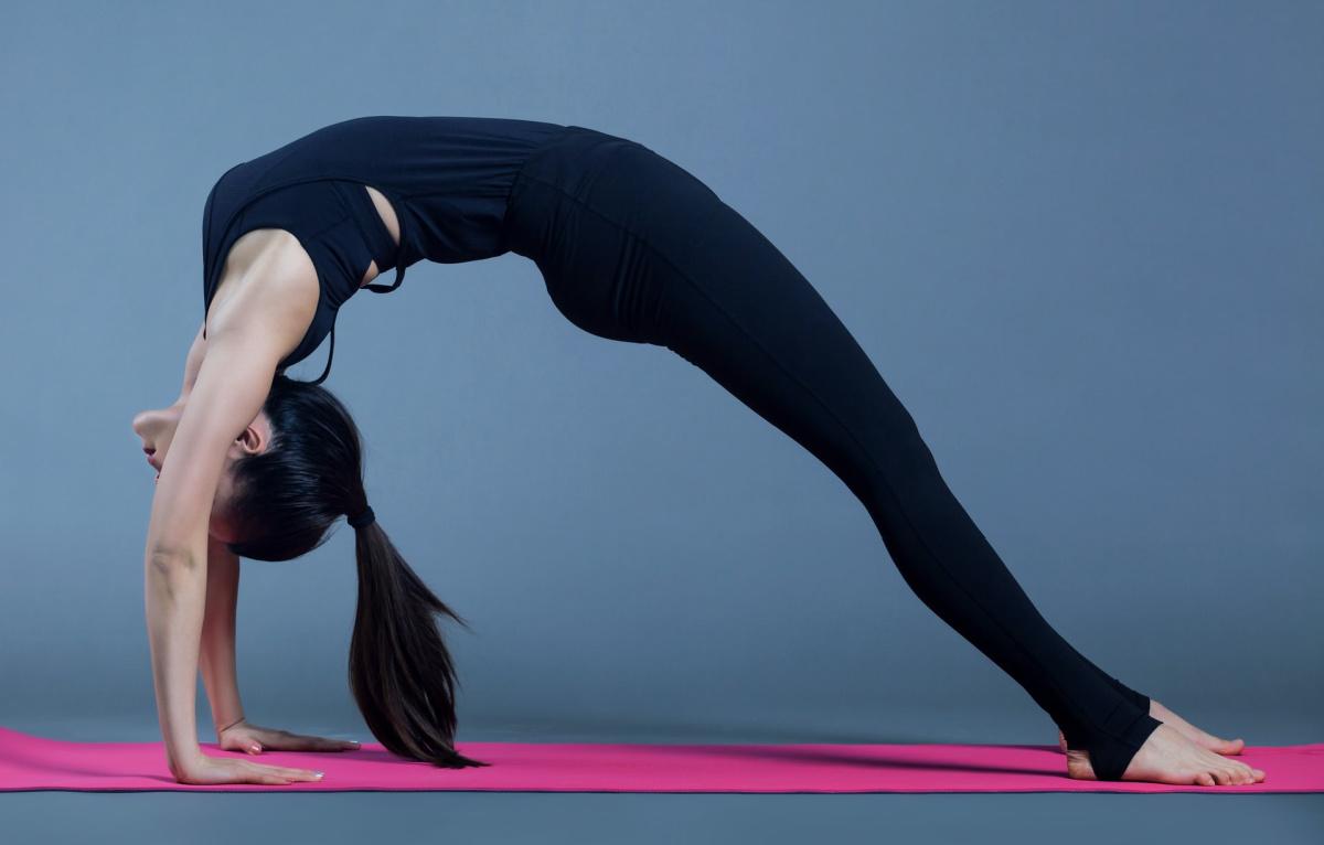 backward bow pose