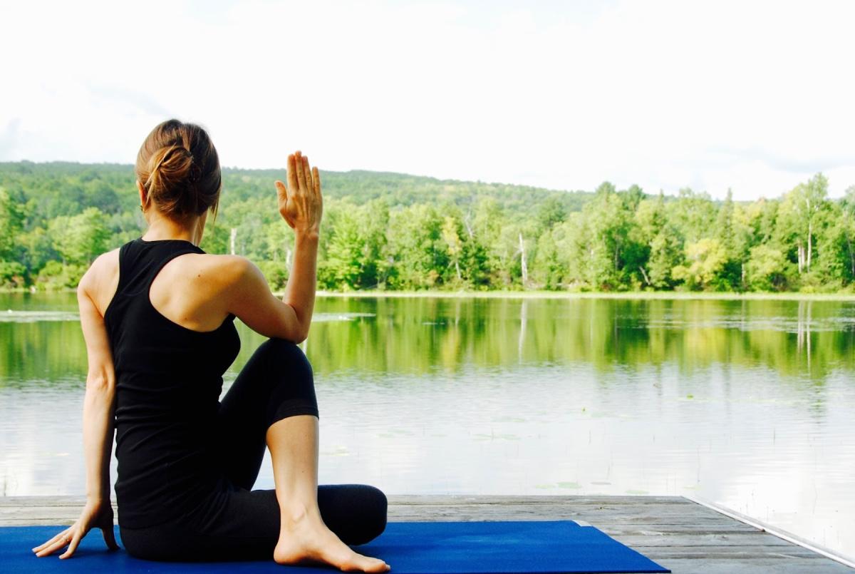 twist yoga pose